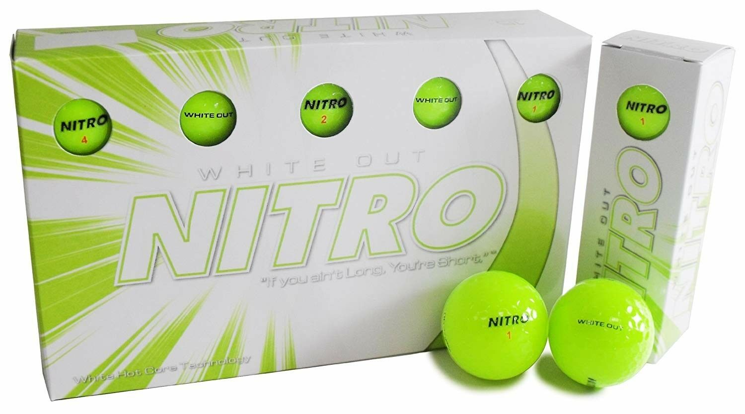 white out golf ball set of 15