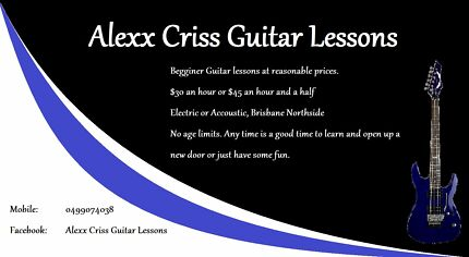 Alexx Criss Guitar Lessons Hamilton Brisbane North East Preview