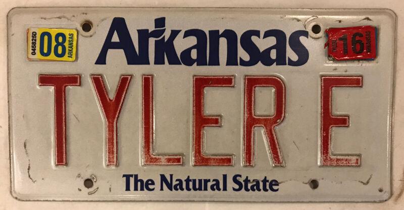 Arkansas vanity TYLER E license plate Tylor Ty Tylar