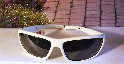 DVX RAGE Designer Polarized Sun Glasses Silver Flash Lens White Frames (Polarized Sun Lenses)