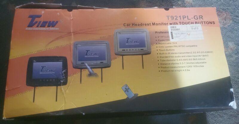 "Tview 9"" Headrest Monitors Black t921pl-gr"