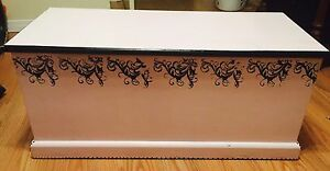Hand painted blanket/ toy box