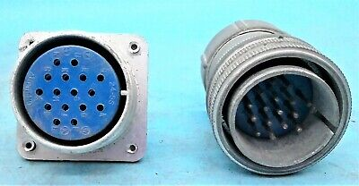 1 Set Used Amphenol Plug Receptacle 24-5s 24-5pf 16-pin