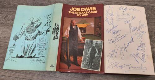 RARE JOE DAVIS SNOOKER BOOK THE BREAKS CAME MY WAY+ AUTOGRAPH COLLECTION REARDON