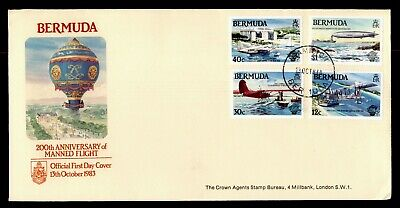 DR WHO 1983 BERMUDA FDC 200TH ANNIV OF MANNED FLIGHT  C244357