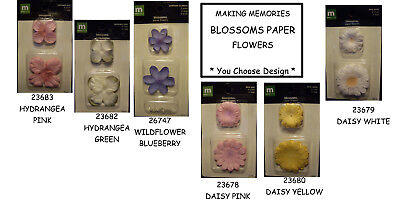 NEW BLOSSOMS PAPER FLOWERS *Your Choice Design* Flower Bloom MAKING MEMORIES