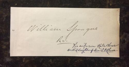 William Sprague IV RI Senator 1863-75 RI Governor 1860-63 13th amendment signer