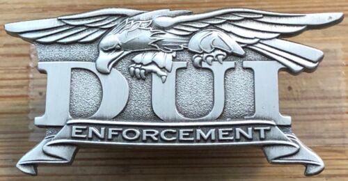 DUI - Driving Under the Influence - ENFORCEMENT-antique silver version Lapel Pin