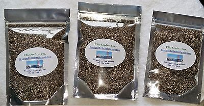 Chia Seeds   Makes Great Sprouts For Salads   1 To 4 Oz Packages
