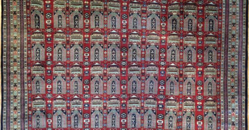 Beautiful Bokhara - Vintage Pakistani Rug - Tribal Oriental Carpet 8.6 X 10 Ft.