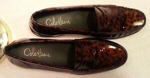 Women's COLE HAAN Animal Print Slip-on Penny Loafers D32992 Sz 8.5AA NEW!