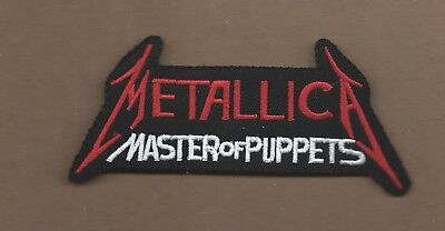NEW 2 1/2 X 4 3/4 INCH METALLICA MASTER OF PUPPETS IRON ON PATCH FREE SHIPPING