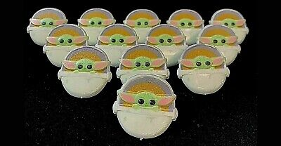 24 Mandalorian Baby Yoda Child Cupcake Toppers Birthday Party Favors Rings