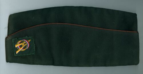 EXCELLENT Older Official Boy Scout Polywool Dk Grn Field Hat - SIZE EXTRA LARGE