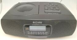 Vintage Sony CD Player AM FM Radio Alarm Clock  Boombox Portable 1998 IFC-CD830