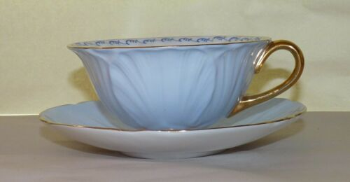 Shelley Teacup & Saucer, Oleander, Blue, Forget-Me-Not, 13528/510. Minty.