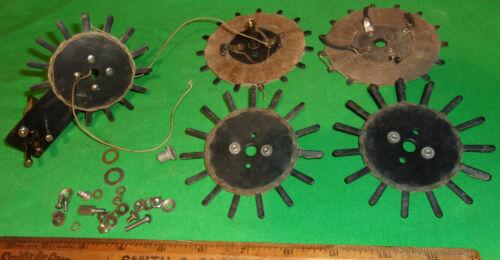 (5) Early Radio Coils Circular Type No Name 1920