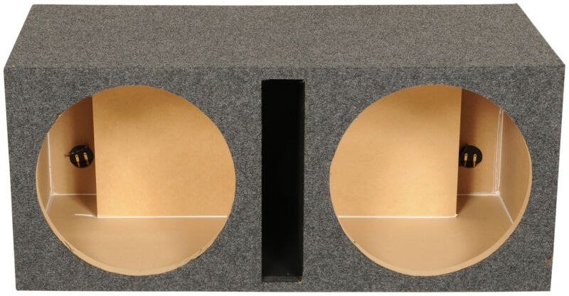 "Rockville RDV15 Dual 15"" Vented Subwoofer Enclosure Sub Box 2.4 CU FT"
