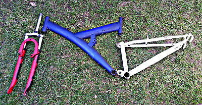 Mountain bike frame, front and rear suspension