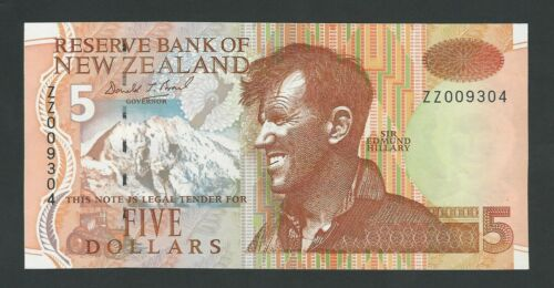 NEW ZEALAND 5 DOLLARS 1992   P-177a REPLACEMENT  UNC