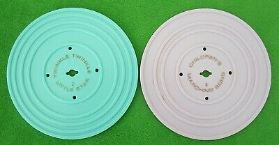 FISHER PRICE MUSIC BOX RECORD PLAYER REPLACEMENT DISCS #2 & #4