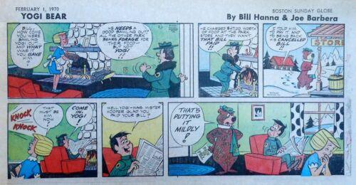Yogi Bear by Eisenberg - Hanna-Barbera - color Sunday comic page - Feb. 1, 1970