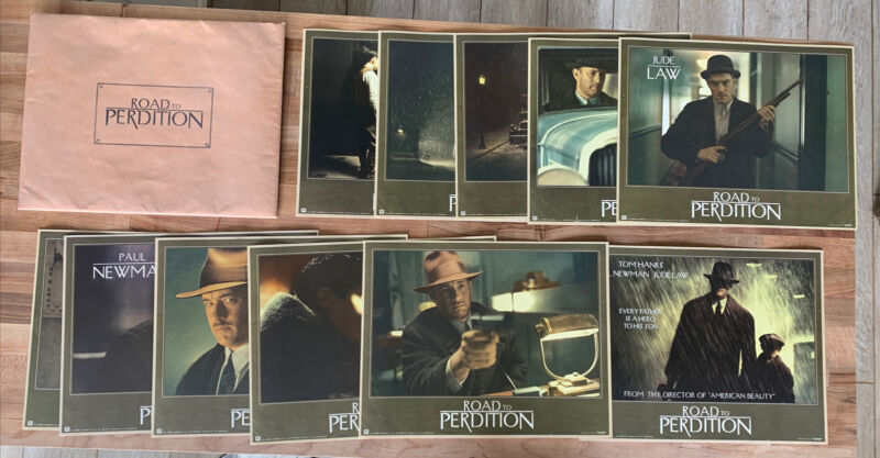 Road To Perdition 11 Press Prints Tom Hanks Paul Newman Jude Law DreamWorks Rare