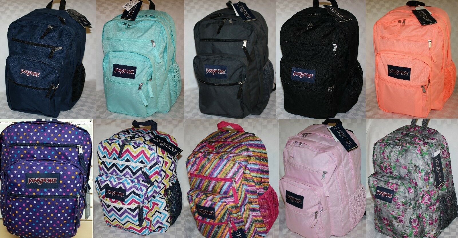 JANSPORT BIG Learner BOOK BAG BACKPACK 100% AUTHENTIC NWT  BACK TO SCHOOL ASSRTD