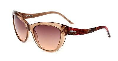 Just Cavalli JC631S Women's Transparent Pink Cat Eye Sunglasses 0670