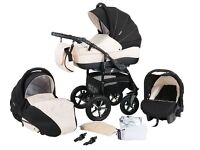 Zipy pram pushchair stroller buggy 3in1 from baby merc PERFECT CONDITION