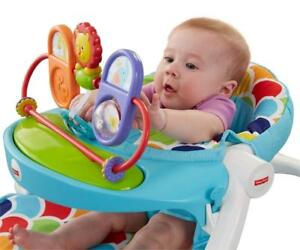 NEW Fisher-Price Sit-Me-Up Floor Seat with Toy Tray, Happy Hills Condition: New