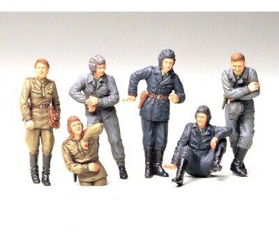 Modellbau Tamiya 300035214 1:35 WWII Figuren-Set Rus.Panzer-Besat.i.Ruhe