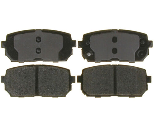 Wagner ThermoQuiet PD1296 Ceramic Disc Pad Set With Installation Hardware Rear