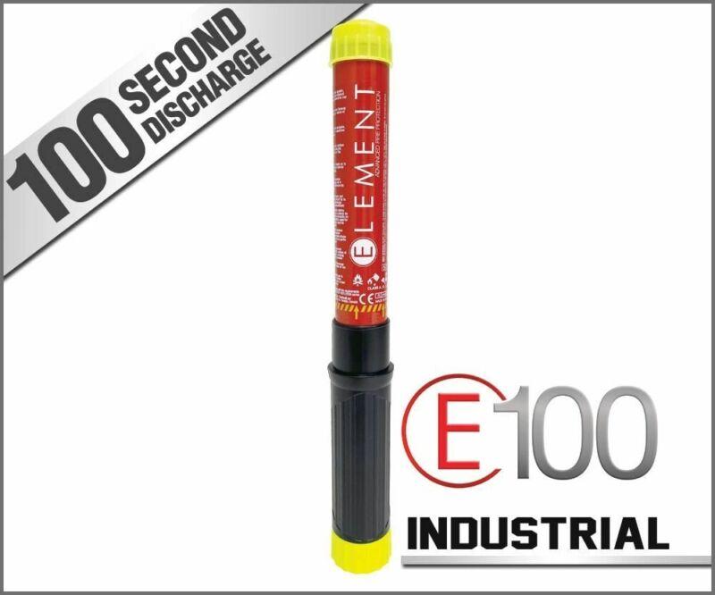 ELEMENT E100 INDUSTRIAL NONTOXIC NONCORROSIVE FIRE EXTINGUISHER - BRAND NEW