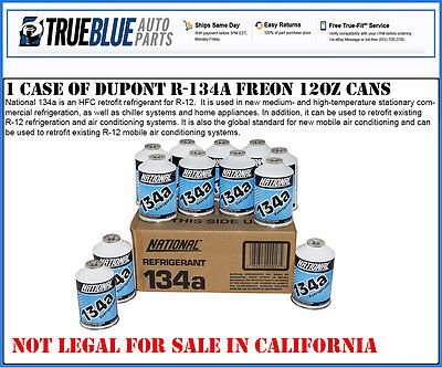 NATIONAL R-134a/R134a REFRIGERANT ONE CASE - (12) TWELVE 12 OZ CANS PER CASE