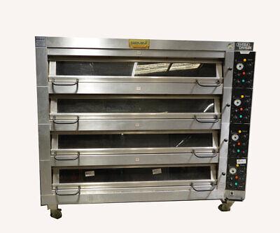 Gemini Dc-44 Sveba Dahlen 4-deck Commercial Bakery Pizza Oven Electric W Steam