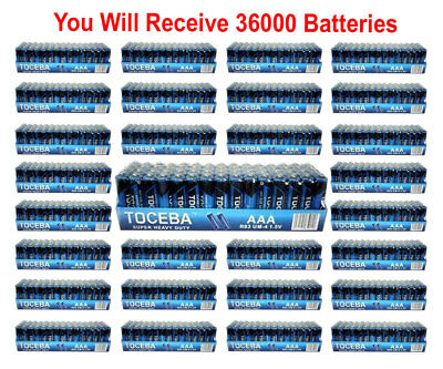 Used, 36000x Toceba AAA Batteries Heavy Duty 1.5v Boxed Bulk Wholesale Lot Fresh  for sale  Shipping to India