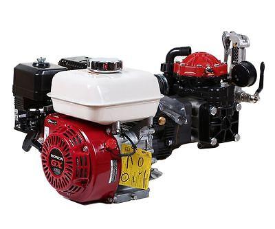 Hypro D30 Diaphragm Pump And Honda Gx160qxe Electric Start Gas Engine Assembly