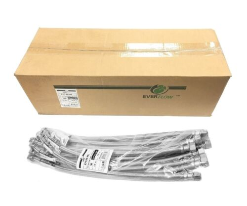 """BULK LOT OF 100 PCS 20"""" STAINLESS STEEL FAUCET SUPPLY LINES 1/2""""IPS X 3/8""""OD"""
