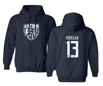 New Soccer Shirt America USA National Team #13 Alex MORGAN Hooded Sweatshirt America Hooded Sweatshirt