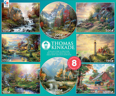 Ceaco Thomas Kinkade 8-in-1 Puzzle Set