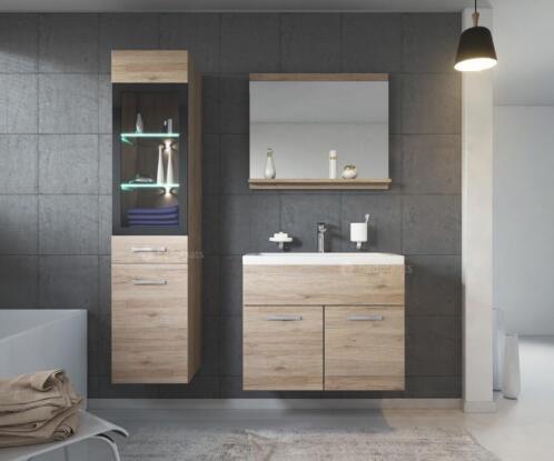 Inloopdouche Met Wastafelkast : ≥ bad meubel rio led wastafelkast badkamer meubel badkamerkast