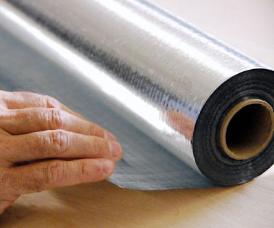 Xtemp 4 X 125 Perforated Radiant Barrier Reflective Foil Housewrap 500 Sqft