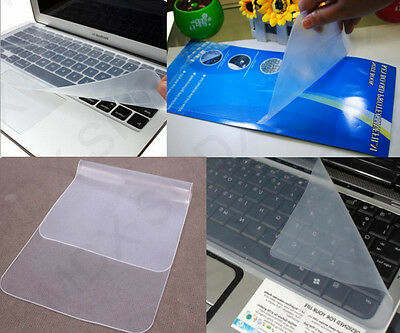 """2x New Universal Silicone Laptop Keyboard Cover Skin Protector for 14"""" to 15"""" UK"""