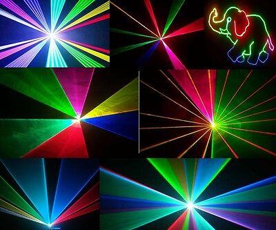 PRO ANIMATION LASER  DISCO DJ NIGHTCLUB LIGHT FULL COLOUR RGB RED GREEN BLUE