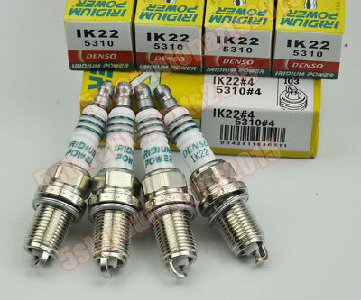 (4 Denso IK22 5310 Iridium Power Spark Plug for Nissan Ford Audi Volvo Renault VW)