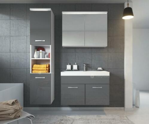 Afmetingen Wastafel Badkamer : ≥ badkamermeubel badmeubel paso led badkamer kast wastafel