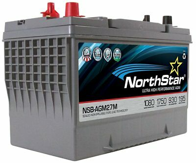 NORTHSTAR Pure Lead Marine Group 27M Battery NSB-AGM27M