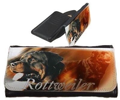 Frauen Geldbörse Brieftasche Rottweiler 1 Rott weiler Rotweiler  Portemonnaie  (Rottweiler Geldbörse)