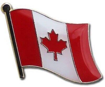 Wholesale Pack of 50 Canada Country Flag Bike Hat Cap lapel Pin